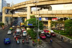 View at Skytrain. Bangkok, Thailand Stock Images