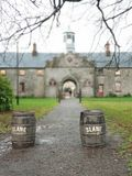 Slane distillery. View of the Slane whiskey distillery building,Ireland royalty free stock image
