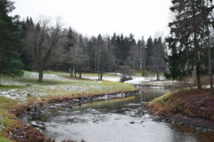 View of Slav river in Pavlovsk park Royalty Free Stock Photo