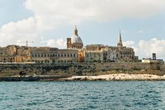 View from Sliema to Valletta Royalty Free Stock Photography