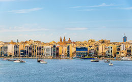View of Sliema town - Malta. View of Sliema town in Malta Stock Photo