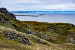Slieve League Cliffs, County Donegal, Ireland. View of Slieve League Cliffs, County Donegal, Ireland Stock Photos