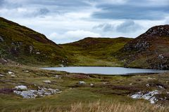 Slieve League Cliffs, County Donegal, Ireland. View of Slieve League Cliffs, County Donegal, Ireland Stock Photo
