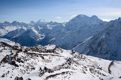 View from a slope of Elbrus Stock Photo