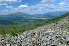 View from the slope of Third Bugor Mount, Northern Ural Stock Photos