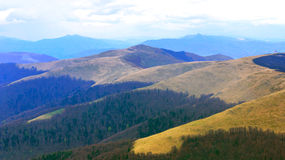 View on slopes in Carpathians Stock Image