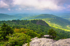 View from the slopes of Grandfather Mountain, near Linville, Nor Royalty Free Stock Image