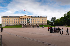 View of the Slottet, the Royal Palace in Oslo Stock Photography