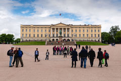 View of the Slottet, the Royal Palace in Oslo Royalty Free Stock Photo