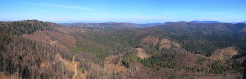 View on the Slovak Paradise National park from Raven Rock, Slovakia Royalty Free Stock Image