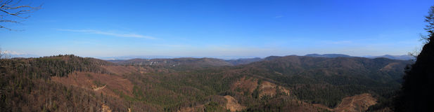 View on the Slovak Paradise National park from Raven Rock, Slovakia Stock Photos