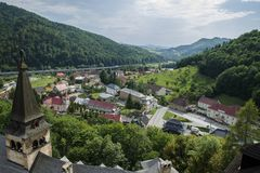 View from Slovakia castle - Oravsky hrad Stock Images