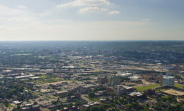 View from small aircraft of mid west USA Stock Photo