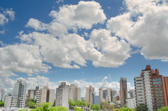 View of small city royalty free stock image