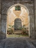 A view of a small courtyard Royalty Free Stock Images