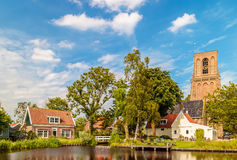 View at the small Dutch village of Ransdorp Stock Photo
