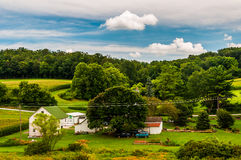 View of a small farm in rural York County, Pennsylvania. Stock Photo