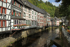 View of the small German town Monschau. Stock Photo