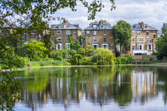 View small lake in the suburbs of London, UK Stock Images