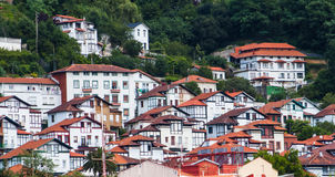 View on small medieval town. Cantabria, Spain Royalty Free Stock Images