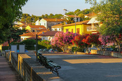 View of small picturesque town Marciana Marina on Elba Island, I Royalty Free Stock Photo