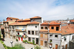 View of small street in Porto city Stock Image