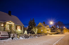 View of small swedish town Royalty Free Stock Photos