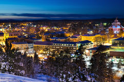 View of small swedish town Royalty Free Stock Images
