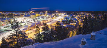View of small swedish town Stock Photography