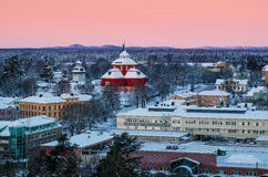 View of small swedish town Stock Photo