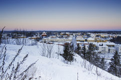View of small swedish town Royalty Free Stock Photography