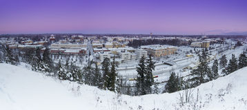 View of small swedish town Stock Image