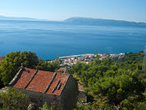 View at small tourist destination in Dalmatia Stock Photos