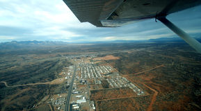 A View of a Small Town from an Airplane Royalty Free Stock Images