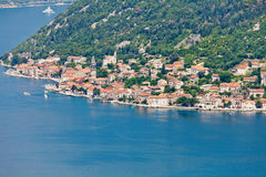 View of a small town by the sea Royalty Free Stock Image