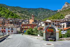 View of small town of Tende. Royalty Free Stock Images