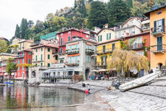 View of the small town of Varenna. Stock Photo