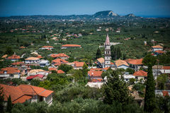 View on a small town on Zakynthos Royalty Free Stock Image