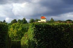 Troja church. View on the small Troja church in Prague, Czech Republic stock photography