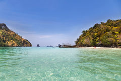 View of small tropical island on the andaman sea Royalty Free Stock Images