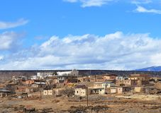 Small village in New Mexico. View of small village in New Mexico stock image