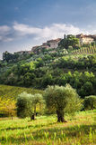 View of a small village in Tuscany Royalty Free Stock Photography