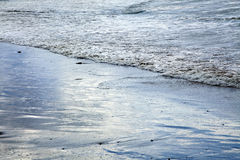 Sea Surf on Winter Beach Royalty Free Stock Photography