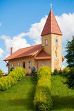 View on small wooden church Stock Images