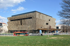 View of Smithsonian National Museum of African American History and Culture (NMAAHC). Washington DC, USA. Royalty Free Stock Photo