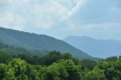 View of the Smoky Mountain National Park Royalty Free Stock Photography