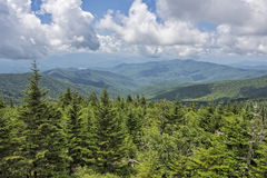 View of the Smoky Mountains from Clingman's Dome Stock Photography