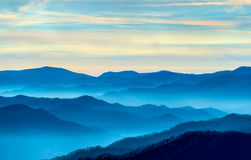 Morning in The Smokies. View of the Smoky Mountains from Route 441 Newfound Gap Stock Photography