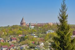 View of the Smolensk fortress, impregnable bastion, reliably defending the state borders. View of the Smolensk fortress, impregnable bastion, reliably defending royalty free stock photo