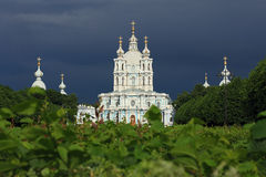 View of the Smolny Cathedral. Royalty Free Stock Images